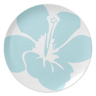 Hawaiian Hibiscus Flowers Melamine Plate  sc 1 st  Zazzle & Hawaiian Hibiscus Flower Plates | Zazzle