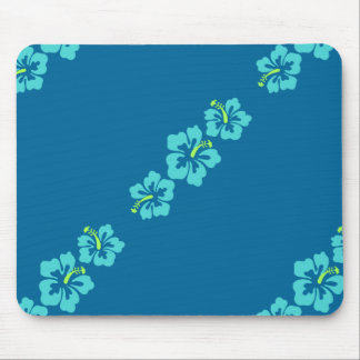 Hawaiian Hibiscus Flowers Mouse Pad