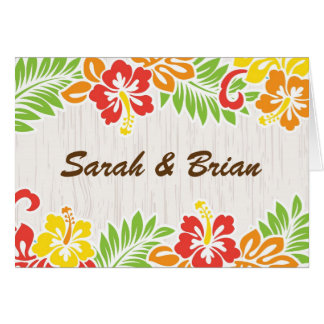 Hawaiian Hibiscus Flowers Note Card