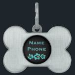 "Hawaiian Hibiscus Flowers Pet Name Tag<br><div class=""desc"">Hawaiian Hibiscus Flowers</div>"