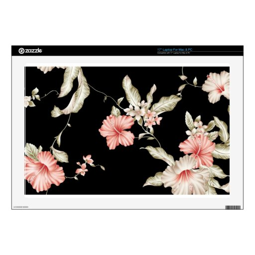 HAWAIIAN HIBISCUS FLOWERS DECAL FOR LAPTOP