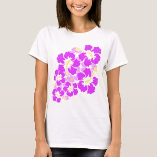 Hawaiian Hibiscus Flowers Tee