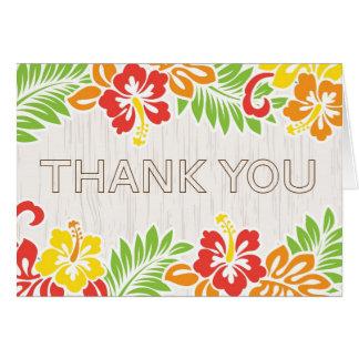 Hawaiian Hibiscus Flowers Thank You Card