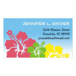Hawaiian hibiscus flowers tropical mommy card business card
