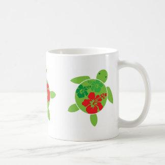 Hawaiian Hibiscus Holiday Happy Honu Coffee Mug