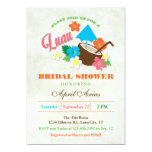 "Hawaiian Hibiscus Luau Bridal Shower Invitation 5"" X 7"" Invitation Card"