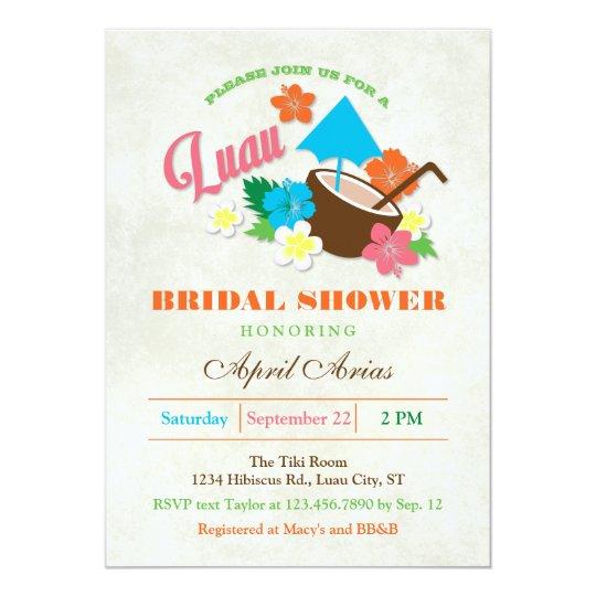 Hawaiian hibiscus luau bridal shower invitation zazzle hawaiian hibiscus luau bridal shower invitation filmwisefo