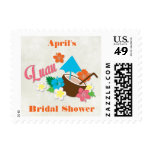Hawaiian Hibiscus Luau Bridal Shower Postage