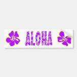 Hawaiian Hibiscus Luau Tropical Flowers Bumper Stickers