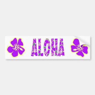 Hawaiian Hibiscus Luau Tropical Flowers Bumper Sticker