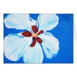 Hawaiian Hibiscus on Blue Note Card