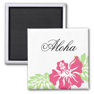Hawaiian Hibiscus Personalized 2 Inch Square Magnet