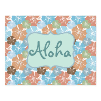 Hawaiian Hibiscus Tropical Flowers Postcard