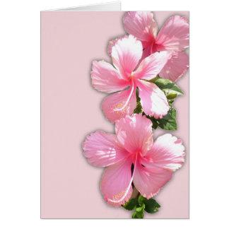 Hawaiian Hibiscus Valentine's Day Card