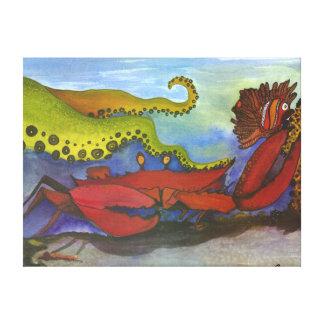 """""""Hawaiian Holiday"""" Watercolor Fish Art Canvas Print"""