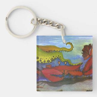 """""""Hawaiian Holiday"""" Watercolor Fish Art Keychain"""