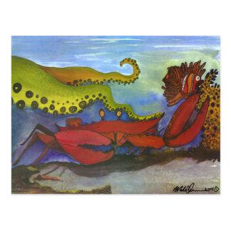 """Hawaiian Holiday"" Watercolor Fish Art Postcard"
