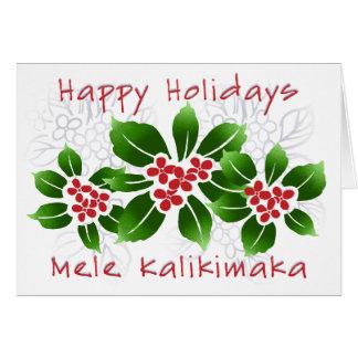 """Hawaiian Holly"" Holiday Card"