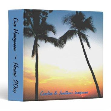 Hawaiian Themed Hawaiian Honeymoon photo album Binder