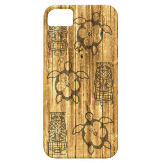 Hawaiian Honu And Tiki Mask iPhone SE/5/5s Case