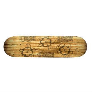Hawaiian Honu And Tiki Mask Skateboard