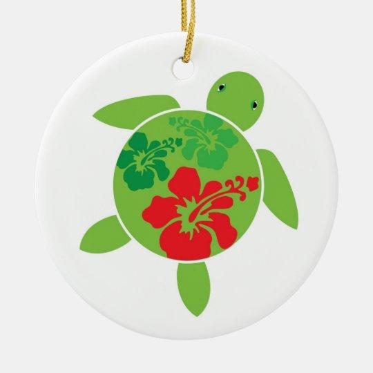 Hawaiian Honu Holiday Christmas Ornament