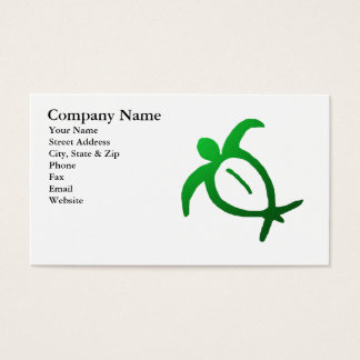 Hawaiian Honu Petroglyph Business Card