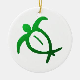 Hawaiian Honu Petroglyph - Ornament
