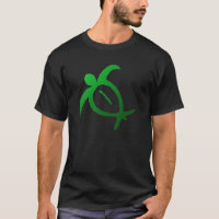 Hawaiian Honu Petroglyph - T-Shirt