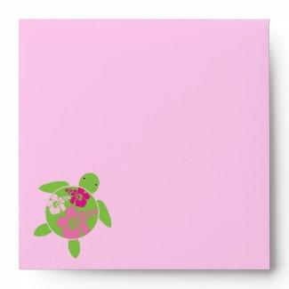 Hawaiian Honu Pink Envelope envelope
