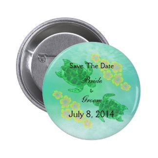 Hawaiian Honu Save The Date Pins