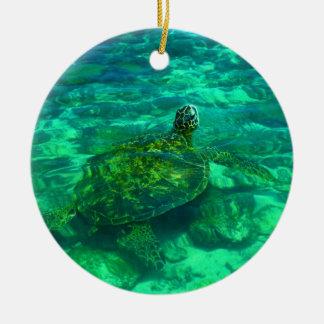 Hawaiian Honu Sea Turtle Ceramic Ornament