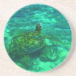 Hawaiian Honu Sea Turtle Drink Coasters