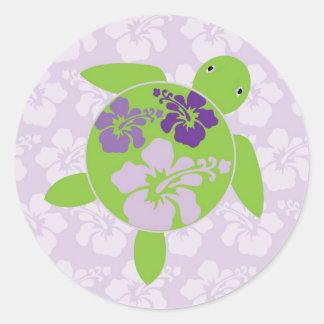 Hawaiian Honu Sticker - Lavender