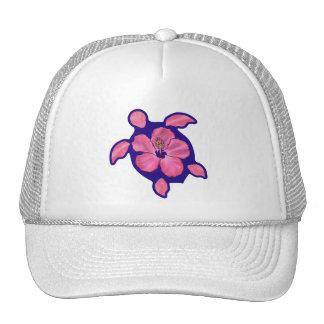 Hawaiian Honu Turtle and Hibiscus Trucker Hat