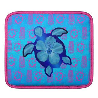 Hawaiian Honu Turtle and Hibiscus iPad Sleeve
