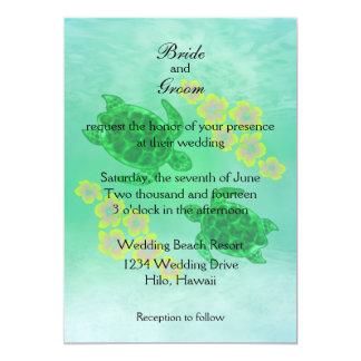 Hawaiian Honu Wedding 5x7 Paper Invitation Card