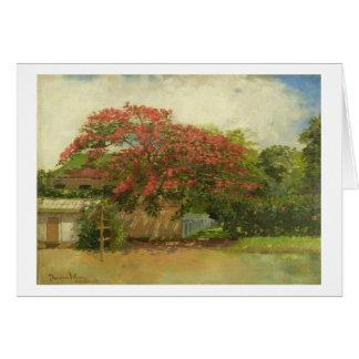 'Hawaiian House' (1901) oil on canvas painting Cards
