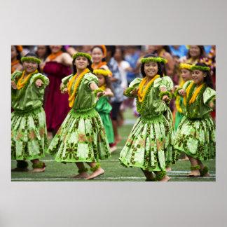 Hawaiian Hula Dancers Poster