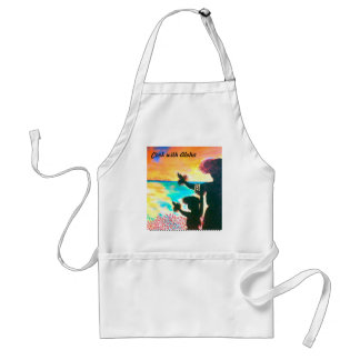 Hawaiian Hula Sunrise Apron