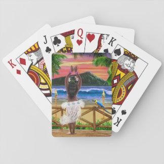HAWAIIAN HULA SUNSET PLAYING CARDS