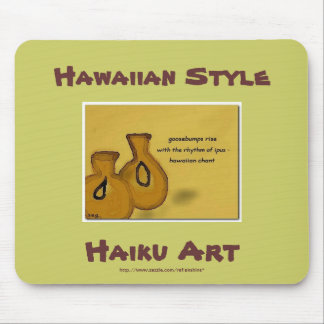 Hawaiian Ipu Haiku Art Mousepad