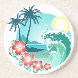 Hawaiian Island 2 Sandstone Coaster
