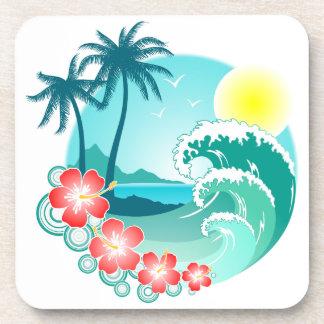 Hawaiian Island 3 Beverage Coaster