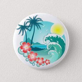Hawaiian Island 3 Pinback Button
