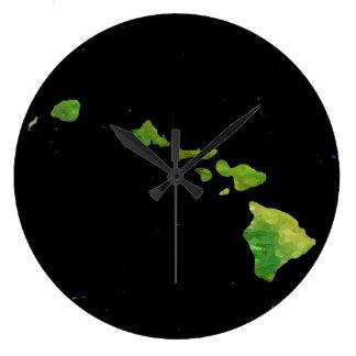 Hawaiian Island Chain in Abstract Art Clock