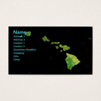 Hawaiian Island Chain in Digital Art Business Card