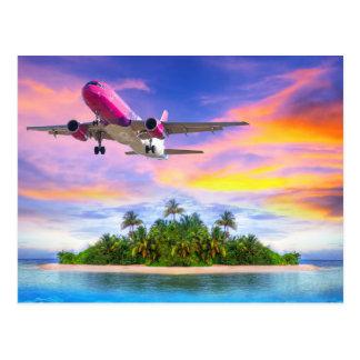 Hawaiian island getaway postcard