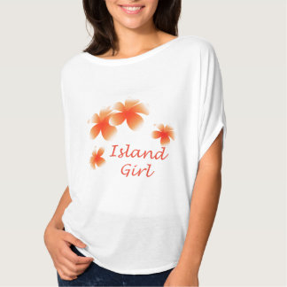 Hawaiian Island Girl Floral Luau Flowy Top