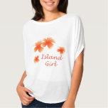 Hawaiian Island Girl Floral Luau Flowy Top T Shirt